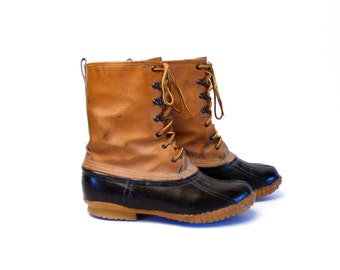 Lacrosse Duck Boots, Mens Leather All Weather Lace Up Boots Size 10 // Great Condition