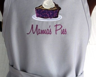 Personalized Pie Apron - Monogrammed Apron - Pie apron for Woman