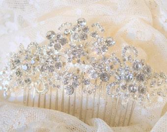 Bridal Hair Comb Wedding Hair Comb- Wedding Hair Accessories-Rhinestone Bridal Comb-Crystal Wedding Comb-Bridal Headpiece