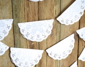 Paper Lace Doily Garland -  20 feet of 8 inch doilies