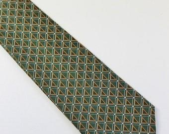 Mens Necktie /  Metropolitan Museum Of Art  Tie / Floral Pattern Tie / Silk Tie / Vintage /  Mens Dress Necktie / GOGOVINTAGE