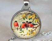 Robin Redbreast pendant, friendship necklace, friendship jewelry, friendship pendant,  bird jewelery, robin keychain key chain key fob