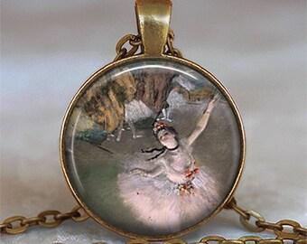 Degas Prima Ballerina pendant, ballerina jewelry, ballet pendant, ballet jewelry, ballet necklace, ballet student gift keychain key chain