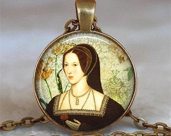 Anne Boleyn necklace, Anne Boleyn pendant, Tudor resin pendant Tudor jewelry Anne Boleyn jewelry keychain key chain