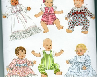 Baby Doll Clothes Simplicity 2704 Sewing Pattern