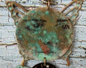 Assemblage Mixed Media Necklace-Contemplation