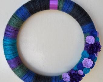 Jewel Toned Yarn Wreath