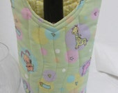 Quilted Wine Gift Bag Nursery Gift New Mom Gift New Baby Gift Bag Congratulations Gift Wine Bag