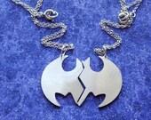 Best Friends Bat Symbol Charm Necklace or Pendant