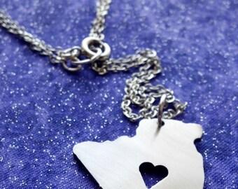 I Heart Algeria - Necklace Pendant or Keychain