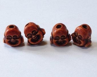 Buddah Beads - Smiling Buddha Beads - 16mm x 18mm