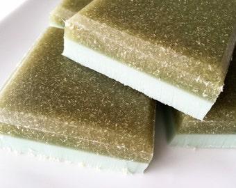 Loofah Soap - Rosemary Mint Loofah Soap - Exfoliating Luffa Soap