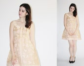 Vintage 1960s Wedding Dress Dress - Short Wedding Dress - The Not One for Conventions Dress - 8059
