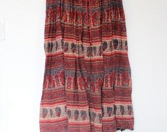 70s Indian cotton gauze maxi skirt