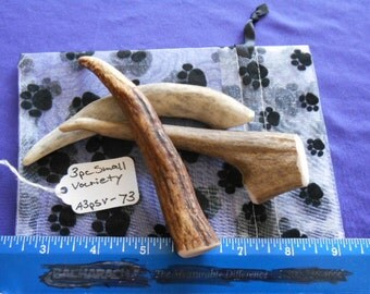 3 Piece Small Variety Deer Antler Dog Chews, A3psv-73