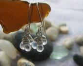 Moonstone Earrings on Argentium Silver