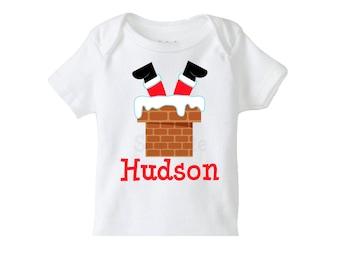 Personalized Christmas Shirt ,  Santa Shirt or Bodysuit