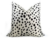 Dalmatian Spotted Pillow Cover - Black and White - more sizes - Spotted Pillow  - Animal Pillow - Decorative Pillow - Designer Pillow