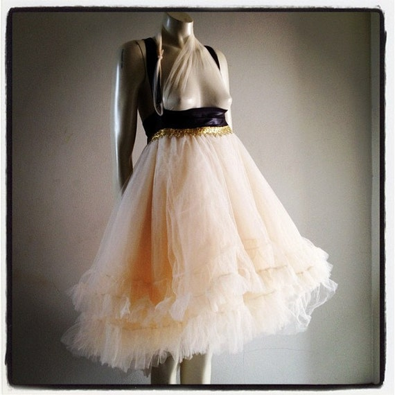 Tutu Petticoat Steampunk Wedding Tulle Tutu Ballet Skirt Bridal CHRISST