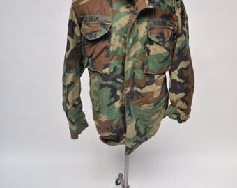 M65 vintage military army field jacket coat BECK medium regular camoflauge camo