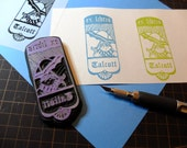 Custom Bookplate (Ex Libris) Rubber stamp