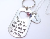 Matching Father Daughter Set. So There Is This Girl, She Calls Me Daddy.  Keychain & Necklace. Gift for Dad from Daughter