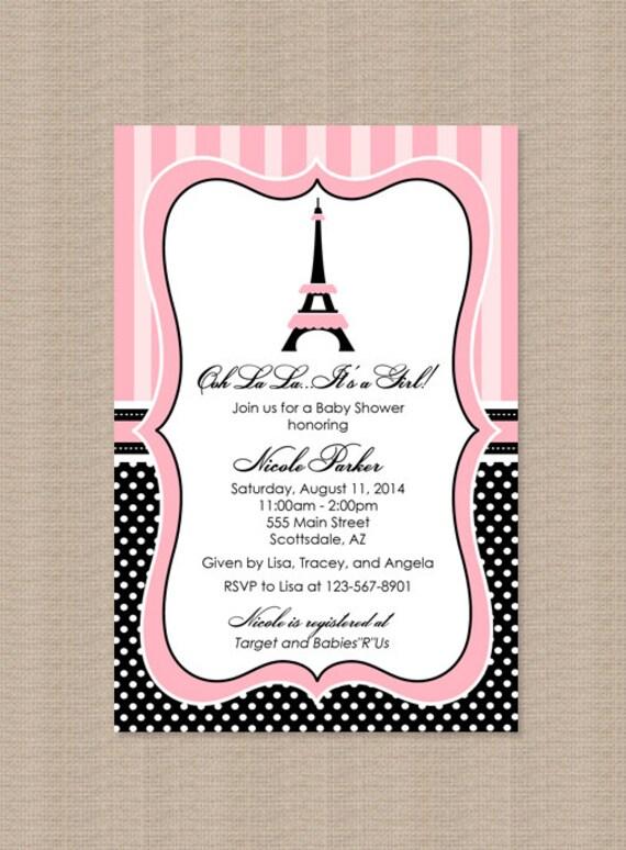 paris baby shower invitation eiffel tower baby shower invitation