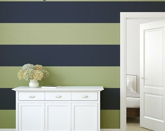 Wall Decal Stripes with Wallpaper effect. Stripe Wall Decal , perfect for Home , Office , or Retail Space. Baby Nursery Decal - AP0024