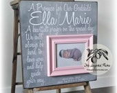 Baptism, Baptism Gift, Goddaughter, Godson, Baptism Gifts for Godchild, Personalized Baby Baptism Gifts, Baby Girl, 16x16 A Promise For Our