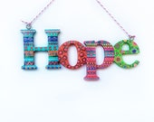 Wooden Word Sign, Hope Sign, Handpainted Word Sign, Inspirational Sign, Home Decor, Photo Prop