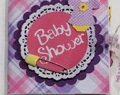 Premade Baby Shower Scrapbook Album, Baby Shower Mini Album, Expecting Scrapbook Album, Baby Girl Shower, Baby Girl Baby Shower