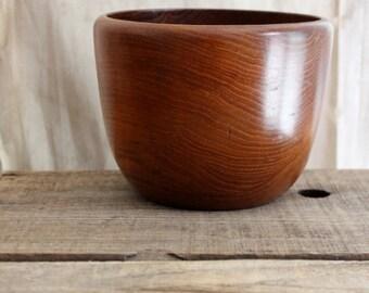 Vintage Upsala Slojd of Sweden teak bowl, hand crafted wood bowl