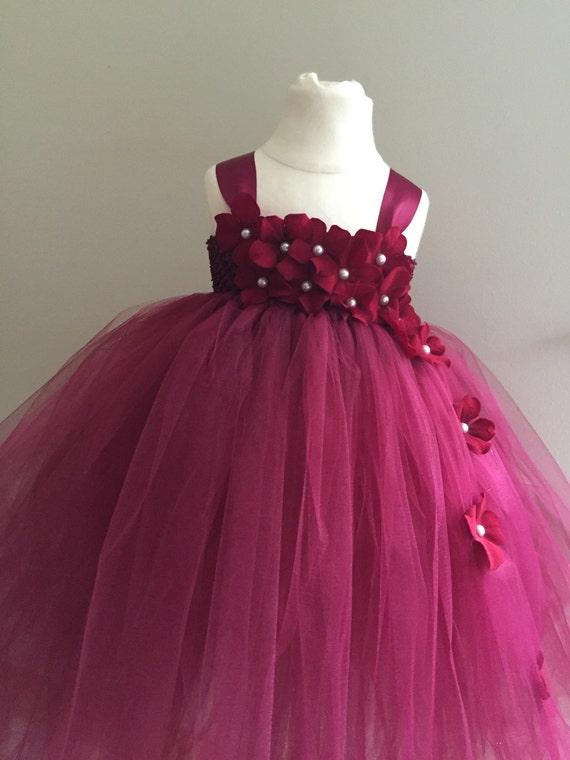 Flower girl dresses burgundy