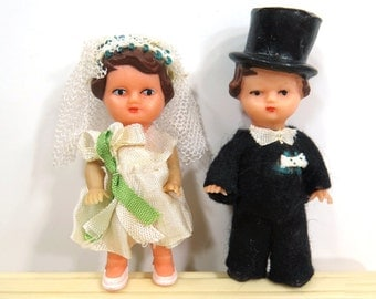 Vintage Bride & Groom Wedding Cake Topper East Germany
