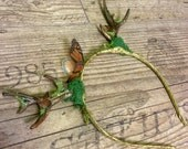 Horns headdress antlers fairytale butterfly monarch