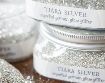TIARA SILVER-Glass Glitter ( 4 oz. )