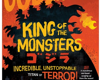 Godzilla - King of the Monsters 12x16 Print - Limited Run