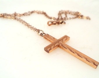 Cross Pendant Necklace 12K Gold Filled