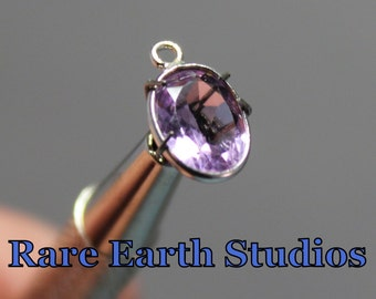 Pink Amethyst & Sterling Silver Bezeled Charm 60315073