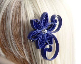 Royal Blue Hair Accessories for a Wedding, Royal Blue Wedding Hair Accessory, Cobalt, Horizon Wedding