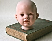 Porcelain Bisque Doll Head with Nice Detail for Doll Makinf and Doll Repair