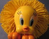 Koosh Ball Tweety Bird Cartoon Character - Oddzon 1995 Warner Bros