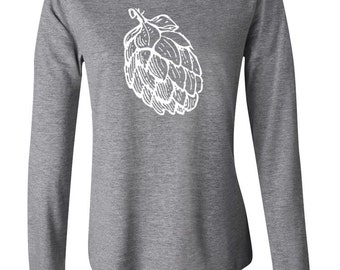 Beer Hops Shirt, Craft Beer Shirt, Graphic Tee, Homebrewer, Beer Girl, Craft Beer Long Sleeve Shirt, Birthday, Mother's Day, Beerfest