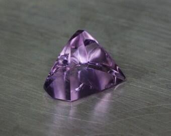 Amethyst -- 7.19ct Freeform Pyramid Cabochon