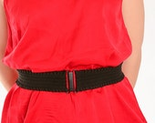 "sale - Women's ruffled black waist belt, 2"" wide - for women, teens and children"