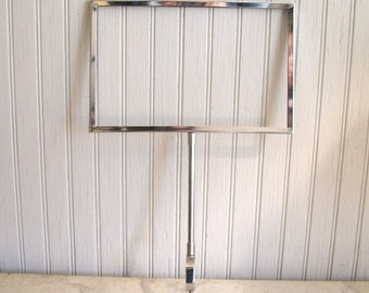 Vintage Store Sign/ Adjustable Tabletop Stand / Chrome/ Industrial/Buffet Sign/Wedding