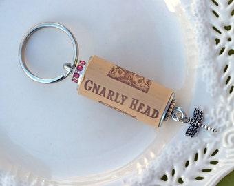 Dragonfly Wine Cork Keychain, Dragonfly, Wine Cork Keychain, Cork Keychain, Dragonfly Wine Cork Key Ring, Wine Cork Key Ring, Cork Key Ring