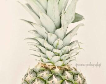 Pineapple Print, Pineapple Photography Print, Pineapple Decor, Tropical Pineapple, Kitchen Art, Food Photography, Fruit Photography