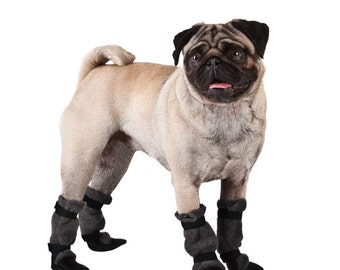PUG Dog Booties, Dog Booties, Dog Boots, Dog Shoes, Dog Clothing
