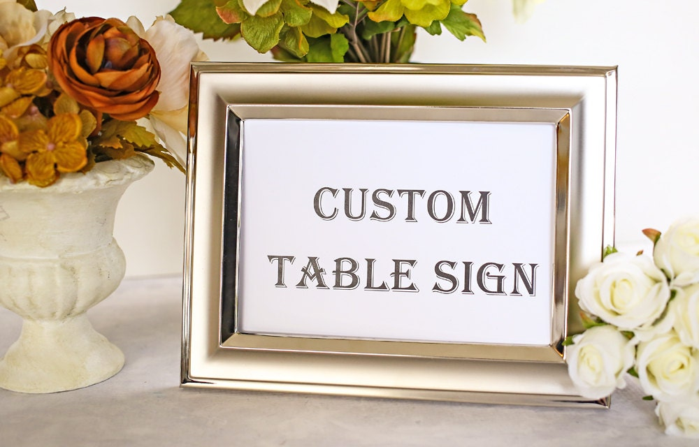 Custom Wedding Sign Gift Table Wedding Reception Party by iDoTags
